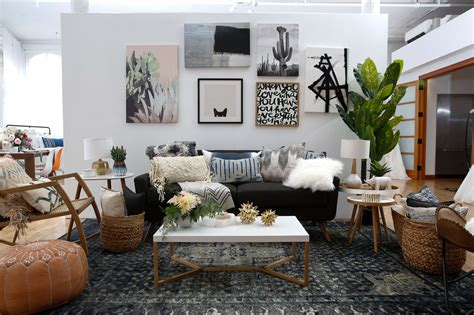 large living room ideal for entertaining rogers realty modern boho interior design with wayfair registry green
