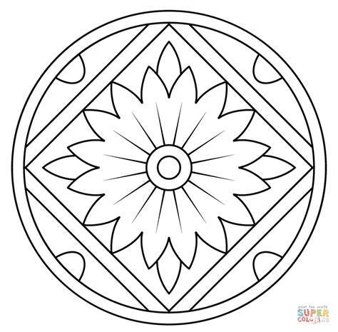 coloring pages patterns mandala mandala with floral pattern coloring page free printable