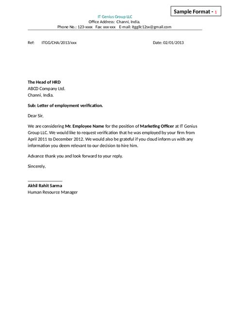 Employment Letter Of Verification 2018 letter of employment fillable printable pdf