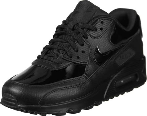 nike air max  leather  schuhe schwarz