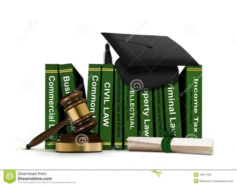 and books books with mortarboard and scroll royalty free stock