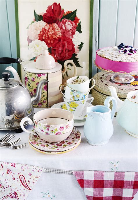 tea table settings ideas set the for a country tea afternoon tea