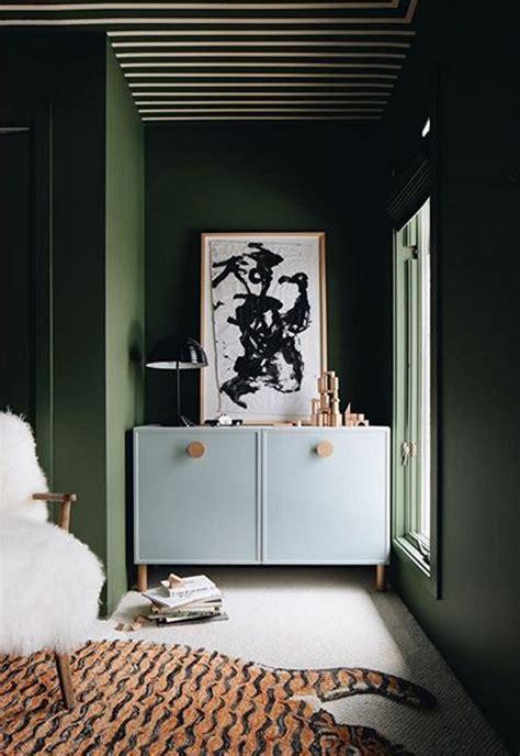 sherwin williams oakmoss green paint color interiors