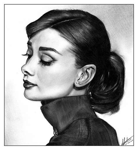 Audrey Hepburn Hair Style Simple Drawings Sketches | audrey hepburn 2 by bulletinthegun on deviantart