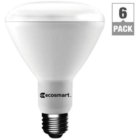 Eco Bright Led Light Bulb Ecosmart 65w Equivalent Bright White Br30 Dimmable Led Light Bulb 6 Pack Ecsbr3065bw6pk The