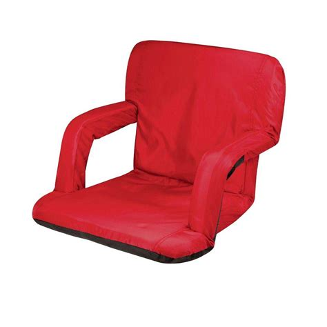 portable recliner picnic time red ventura seat portable recreational