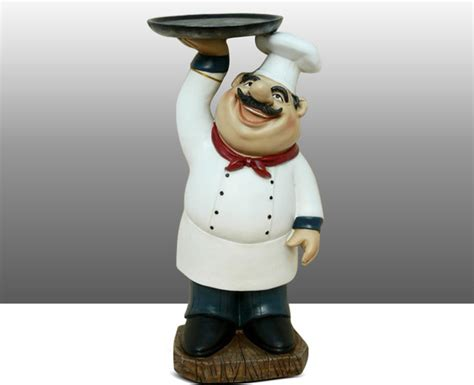 Chef Statue For Kitchen by Chef Kitchen Statue Figure Holding Plate Table