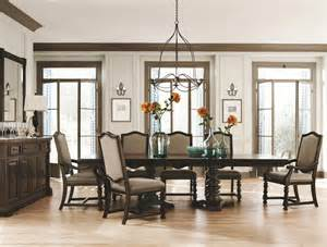 Bernhardt Dining Room Bernhardt Pacific 9pc Pedestal Dining Table Set In Coffee Bean By Dining Rooms Outlet