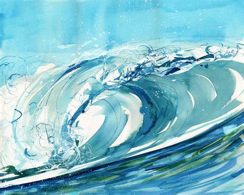 Carribean Blue Artwork, by Liz Lind