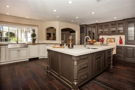 Painting Kitchen Island by Distressed Wood Kitchen Cabinets Of Best Colors For