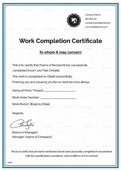 free certificate templates for word uk certificate practical completion sle images