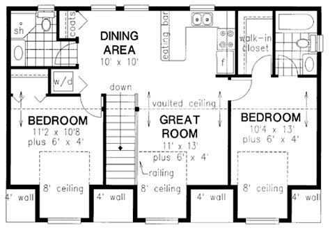Above Garage Apartment Floor Plans garage plan 58568 at familyhomeplans com