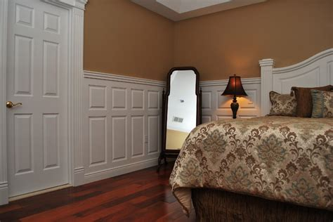 Wainscoting Ideas For Bedroom by Wainscoting Beadboard With Raised Panel Headboard