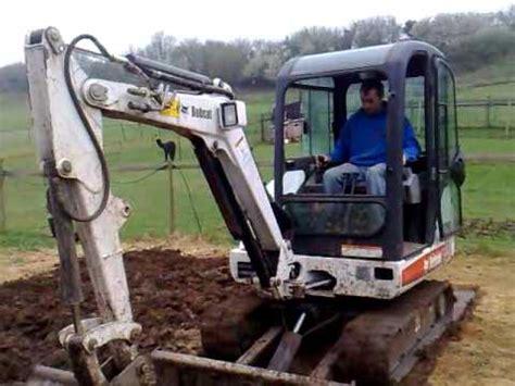 digging  garden  bobcat mini digger youtube
