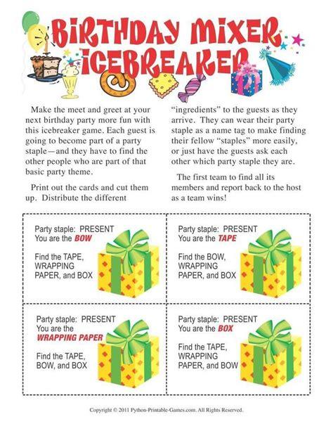 50th birthday party game idea birthday party birthday mixer icebreaker 6 95