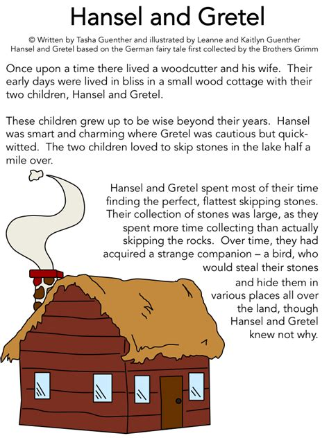 printable version of fairy tales print the story of hansel and gretel