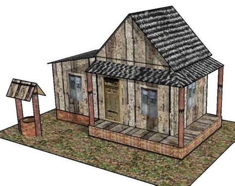 printable diorama buildings old country house for diorama free building paper model
