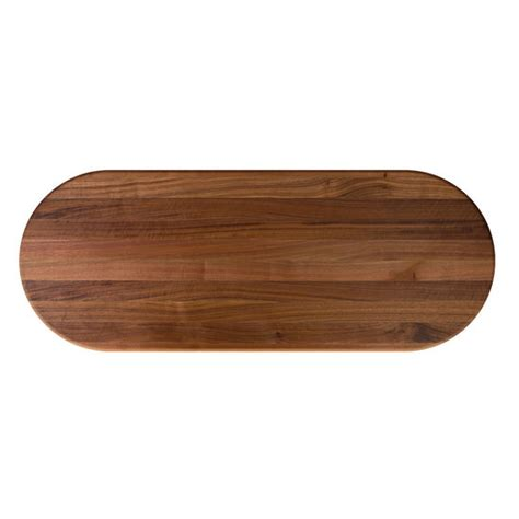 walnut butcher block table oval walnut butcher block table top with length rails