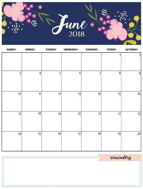 cute june  calendar template calendrier calendar