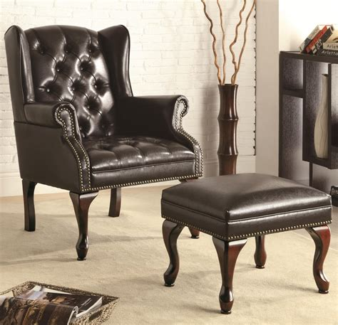 black leather accent chair coaster 900262 black leather accent chair a sofa