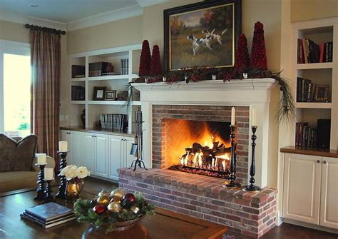 brick fireplace mantel ideas gen4congress