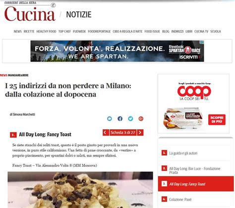 cucina corriere della sera press fancytoast