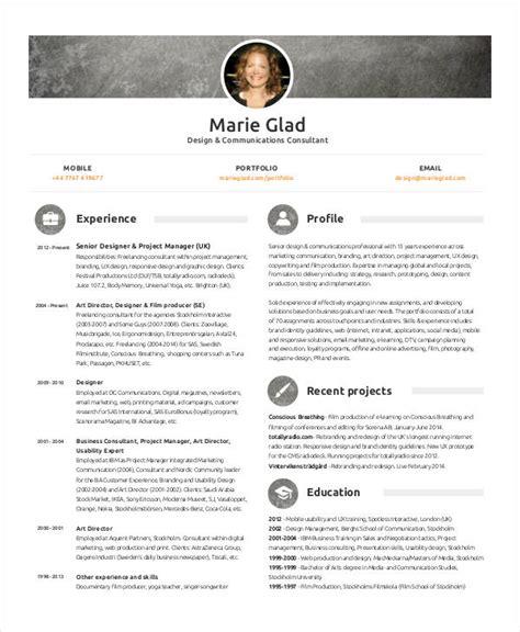Marketing Consultant Sle Resume by 30 Simple Marketing Resume Templates Pdf Doc Free Premium Templates