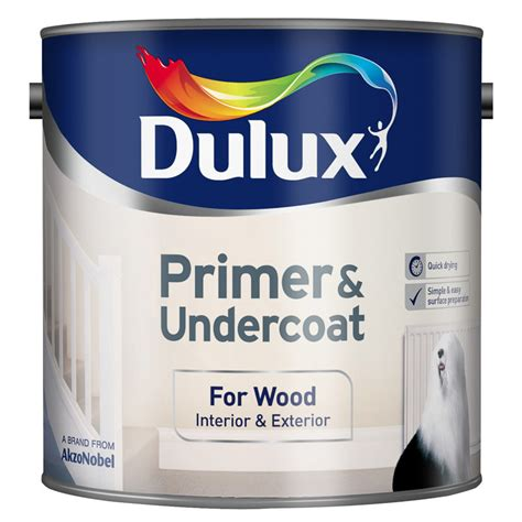 Interior Wood Primer by Dulux Primer Undercoat Paint For Wood 2 5l Painting