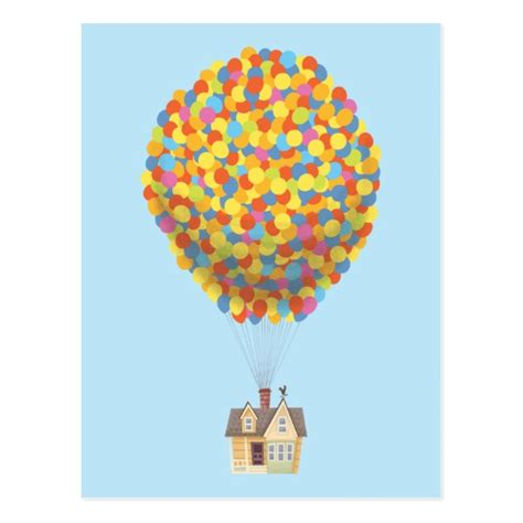 up house disney disney pixar up balloon house pastel postcard zazzle com