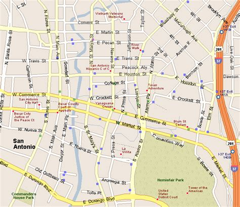 map of downtown san antonio texas downtown san antonio map