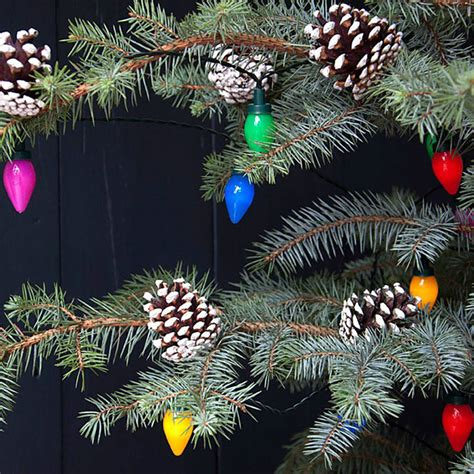 vintage coloured string christmas lights by i love retro