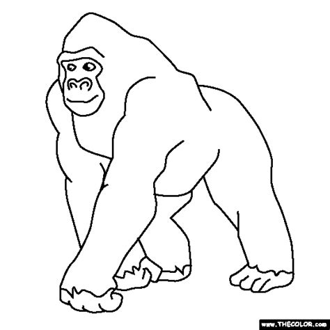 baby gorilla coloring page free coloring pages of g for gorilla