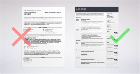 resume examples admin assistant