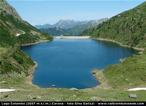 le lago lago colombo alta valle brembana alpi orobie