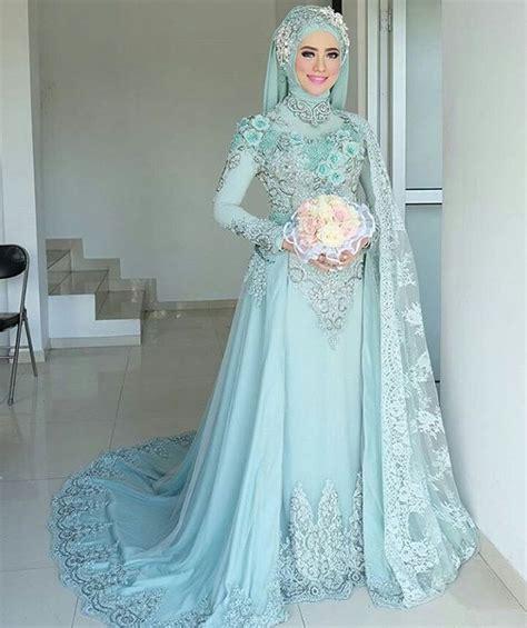 model baju pengantin muslim  desain elegan cantik