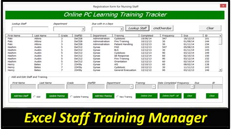 employee safety training matrix template excel omni