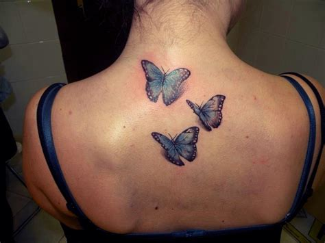 3d tattoo on the back 3d butterflies tattoo on upper back tattooshunt com