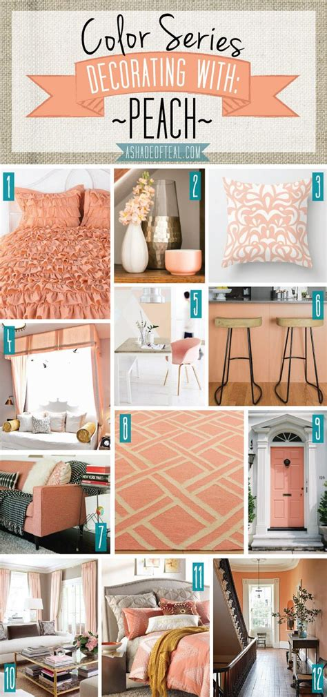 coral color home decor color series decorating with peach teal decorating and