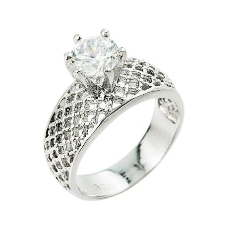 Cz Engagement Rings by Engagement Ring Cz Engagement Ring White Gold Cz