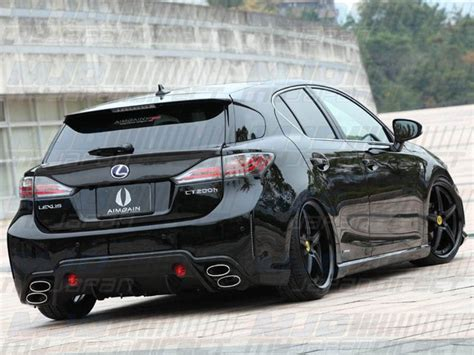 lexus ct200h rear aimgain lexus ct200h zwa10 hybrid sports 3p aero set