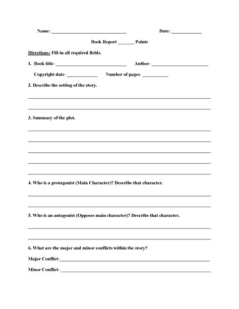 book reports for high school high school book report worksheets interactive grammar