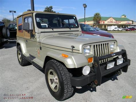 Jeep Wrangler 1992 For Sale 1992 Jeep Wrangler 4x4 In Light Chagne Metallic