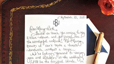 Thank You Letter Vacation How To Write A Charming Thank You Note Southern Living