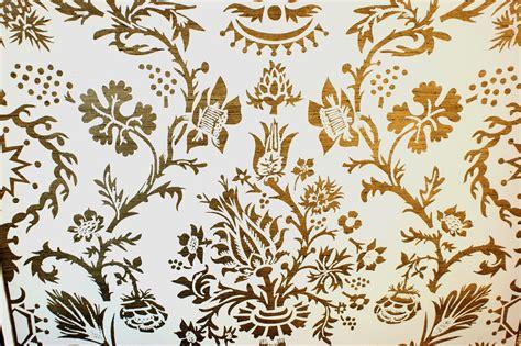 wallpaper gold print vintage balmoral hand print wallpaper metallic by