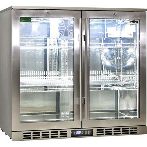 glass door stainless steel bar fridge rhino glazed glass 2 door commercial alfresco