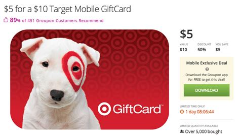 5 For 10 Target Gift Card - 10 target gift card for 5 deals we like