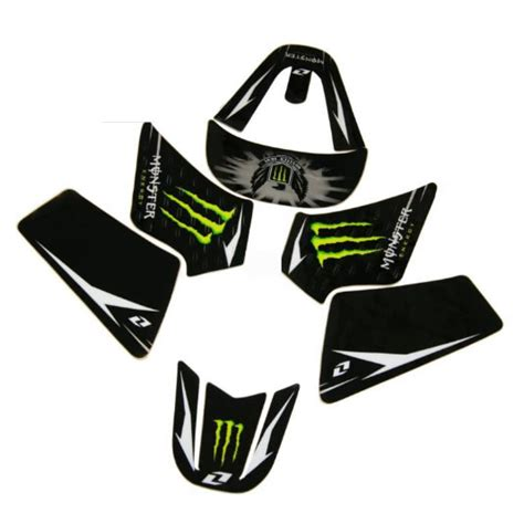 Sticker For Yamaha Pw50 by Yamaha Pw50 Monster Energy Decal Kit Black Green Stickers