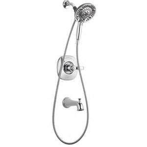 shop delta nura chrome 1 handle bathtub and shower faucet