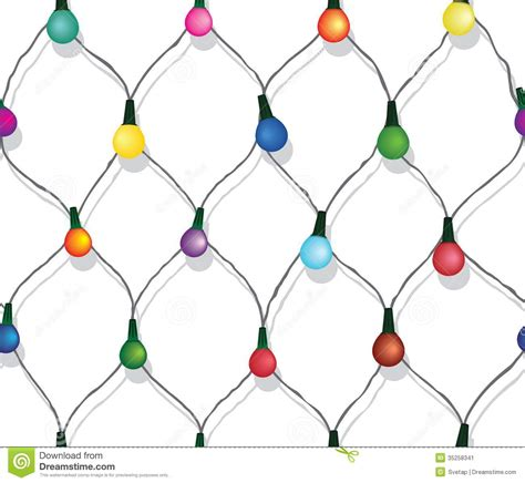 string of christmas lights black and white clipart