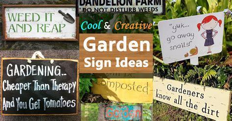 garden sign ideas balcony garden web